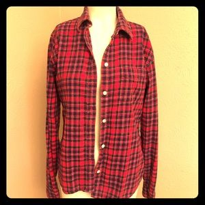 🥼Lucky Brand plaid flannel shirt, size small